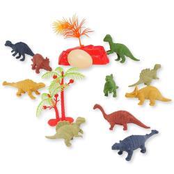 恐龍蛋霸王龍三角龍模型公仔玩具組12件組 690294【卡通小物】