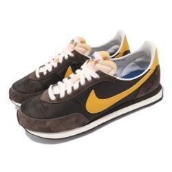 Nike 休閒鞋 Waffle Trainer 2 男女鞋 基本款 復古 簡約 麂皮 情侶穿搭 棕 黃 DB3004200 [ACS 跨運動]