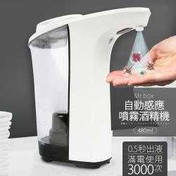 (現貨) Mr.Box 紅外線全自動感應酒精專用殺菌淨手噴霧機 480ml (1入)
