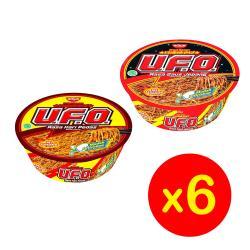 【日清Nissin】UFO碗麵6入組(日式醬油/香辣咖哩)