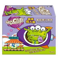 吸C凍果凍五入組-葡萄果汁450g【愛買】