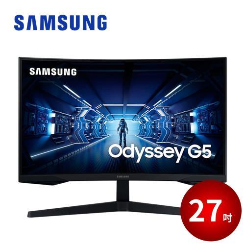 SAMSUNG 27吋 Odyssey G5 1000R 曲面電競顯示器
