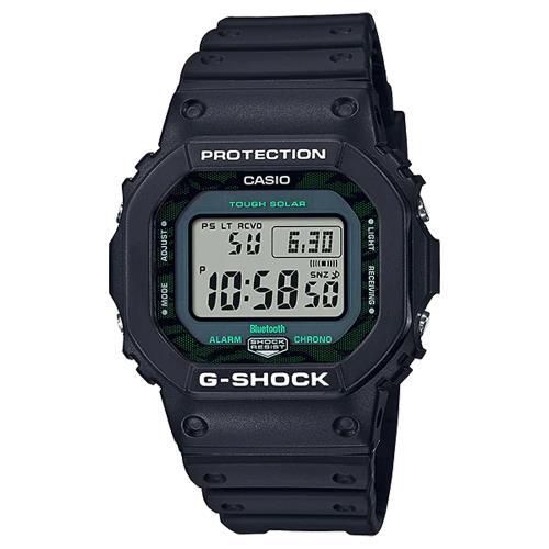CASIO 卡西歐 G-SHOCK 暗夜時刻 午夜霧黑 藍芽太陽能電波手錶(GW-B5600MG-1)
