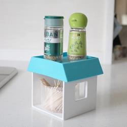 日本製造HACHIMAN創意小屋收納架(藍色)
