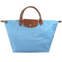 Longchamp Le Pliage 折疊短揹帶中肩提包.藍