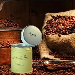 古坑【山海觀咖啡莊園】渥垛賞麝香蜜咖啡豆150gx2(罐裝)(不含木盒)