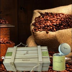 古坑【山海觀咖啡莊園】渥垛賞麝香蜜咖啡豆150gx3罐(含木質禮盒)