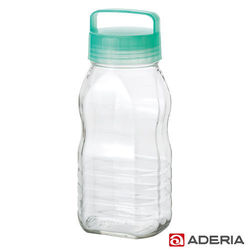 【ADERIA】日本進口長型醃漬玻璃罐2L(藍綠)