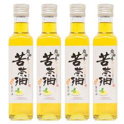 麻油車 頂級冷壓苦茶油4瓶(255ml/瓶)