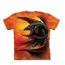 【摩達客】(預購)美國進口The Mountain 羊角惡龍 純棉環保短袖T恤