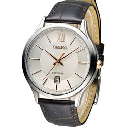精工 SEIKO CS紳士經典時尚腕錶 7N42-0GG0K SGEH55P1 咖啡皮