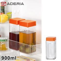 ADERIA 日本進口玻璃醃漬瓶900ml(橘)