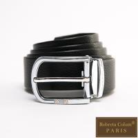 Roberta Colum - 鄰家紳士金屬圓弧款真皮皮帶