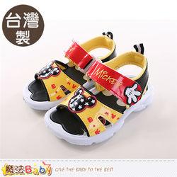 魔法Baby 兒童涼鞋 台灣製迪士尼米奇正版涼鞋~sh9700