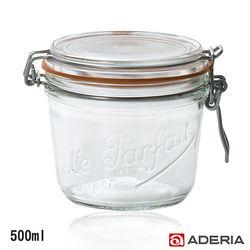 【ADERIA】日本進口扣式密封玻璃罐500ml