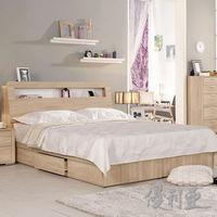 【優利亞-格瑞絲】雙人5尺床頭箱+單邊抽屜床底(不含床墊)