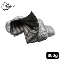 【OutdoorBase】Snow Monster-頂級羽絨保暖極輕量羽絨睡袋匈牙利白鴨絨FP700+ (太空灰.中灰/800g)-24691