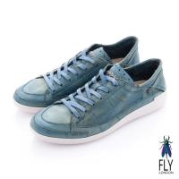 Fly London(男) 哲學之思 手染自然色系綁帶休閒鞋 - 釉藍