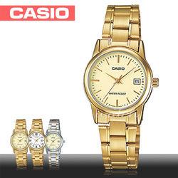 【CASIO 卡西歐】日系版-小鏡面經典款淑女錶(LTP-V002G-9A)