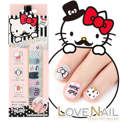 LOVE NAIL-Hello Kitty x LOVE NAIL限定版指甲油貼-淑女紳士條紋