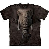 【摩達客】(預購)美國進口The Mountain 象臉 純棉環保短袖T恤