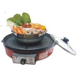 永新 分離式不沾黏烤盤火鍋/電火鍋 (YS-380)