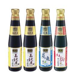 黑龍高純度黑豆蔭油+蒸魚蔭汁+紅麴黑豆蔭油膏料理組400mlx4瓶