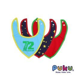 任-PUKU藍色企鵝 72彈性領巾圍兜3入