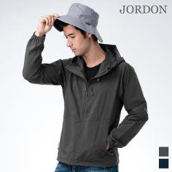 【JORDON 橋登】男款透氣 防風連帽 軟殼外套755