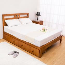 Boden-雀莉5尺實木雙人床架-抽屜型