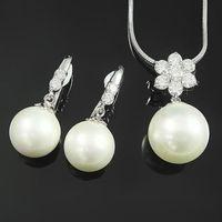【蕾帝兒珠寶】情意白色貝珠套組