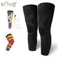 SNUG運動壓縮全腿套-1雙(全黑款)