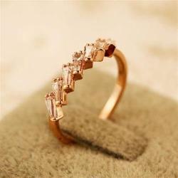 【米蘭精品】玫瑰金戒指鑲鑽銀飾-閃亮高貴滿鑽百搭73by29