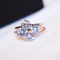 【米蘭精品】玫瑰金戒指鑲鑽銀飾-精選尊貴時尚百搭73by33