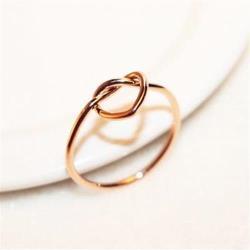 【米蘭精品】玫瑰金戒指銀飾-柔美氣質愛心設計品73by23
