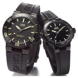 Oris Aquis 潛水機械對錶-黑x黃 0173376534722-0742634BEB+0173376524722-0741834B