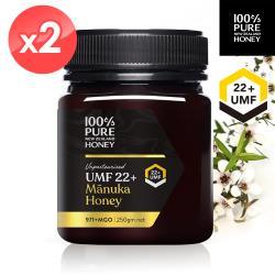 【 紐西蘭恩賜】麥蘆卡蜂蜜UMF22+ 2瓶 (250公克)