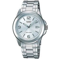 【CASIO】 時尚都會新風格指針錶-銀白色 (MTP-1215A-7A)
