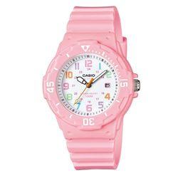 【CASIO】 迷你潛水運動風指針錶-白面X粉紅 (LRW-200H-4B2)
